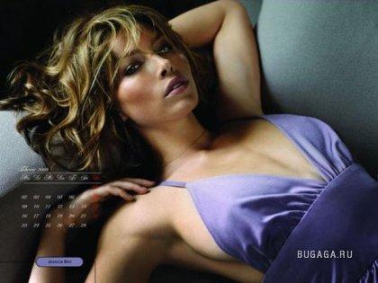 Джессика Биль - календарь 2009