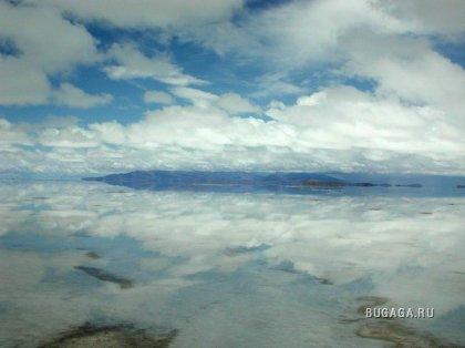 Солончак Уюни - самое большое зеркало в мире
