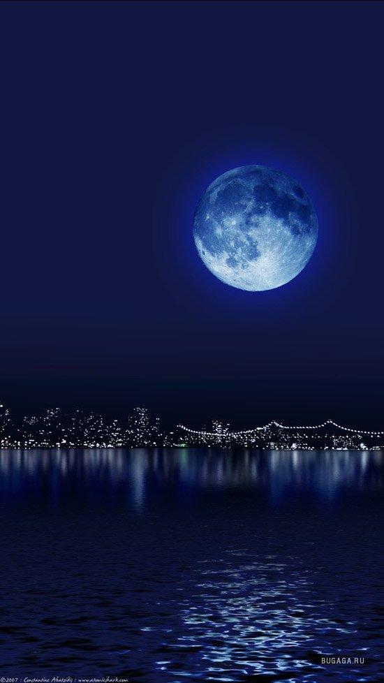 красивая луна фото на мобильный куриного