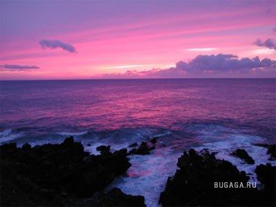 Розовый закат...