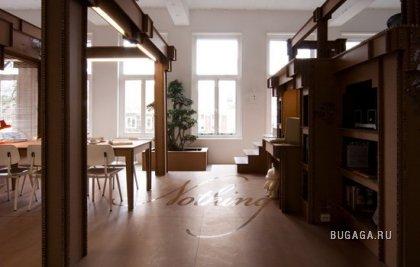 Картонный офис в Амстердаме