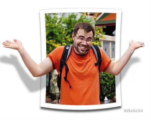Как сделать фото выходящее за рамки