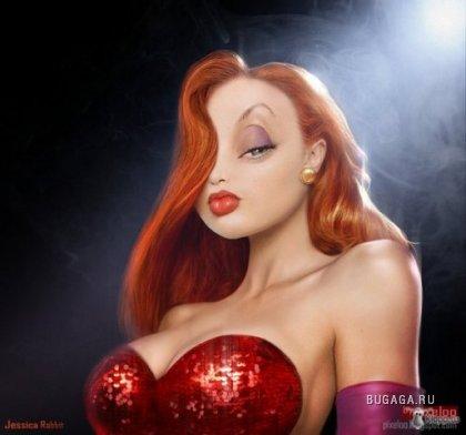 рыжие волосы - это красиво и ярко...