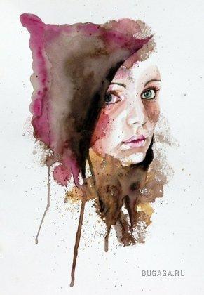 Портреты акварелью от Molly Brill