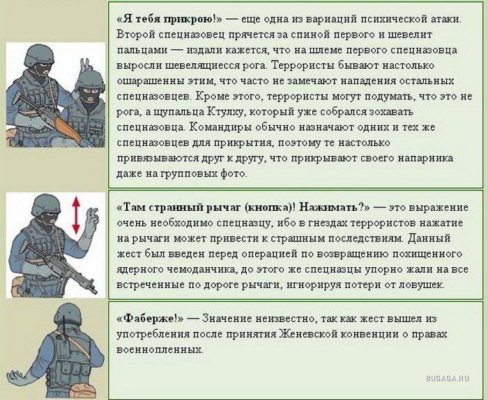 Картинки жестов спецназа