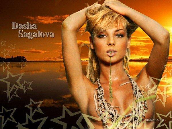 Голая Настя Волочкова балерина видно её сиськи попку и