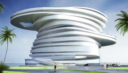 Спиральная пятизвездочная гостиница в Абу-Даби