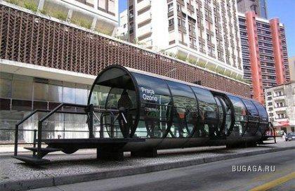 Необычные автобусные остановки