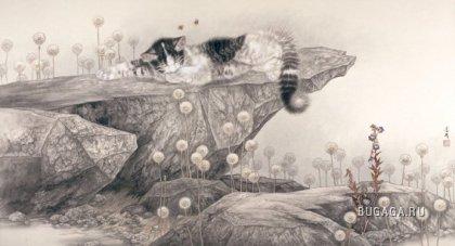 Кошки и собаки от Mi Chunmao