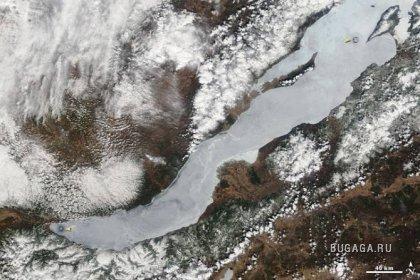 Таинственные круги на озере Байкал