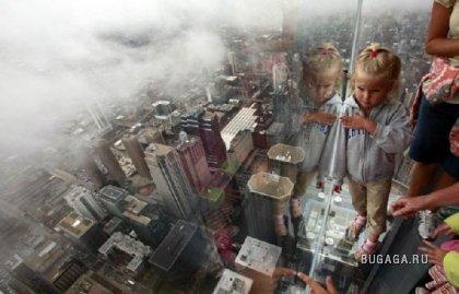 Балкон на 103 этаже башни в Чикаго