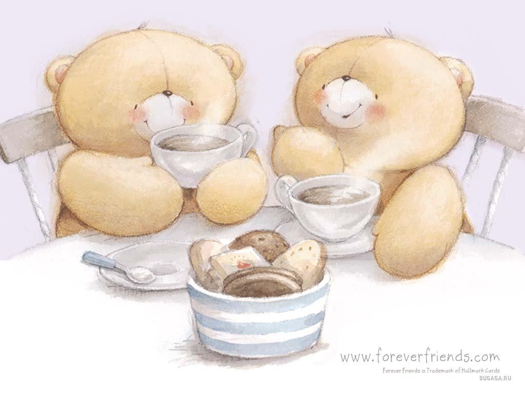 картинки мишек с чаем чужие