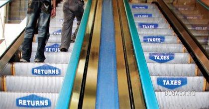 Креативная реклама на эскалаторах
