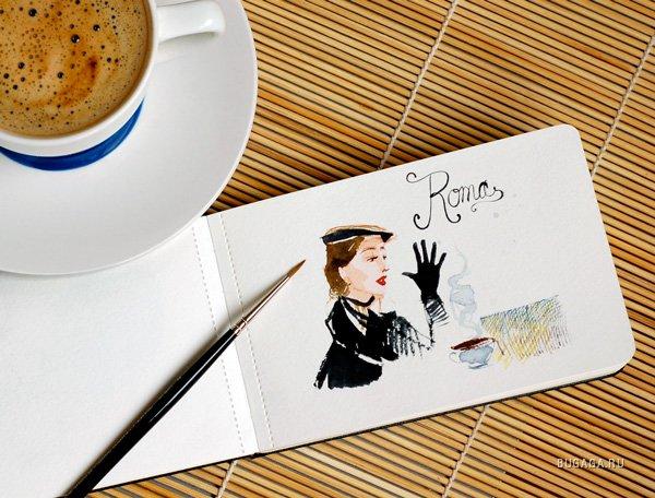 Картинка с днем рождения кофе, для девочки картинка