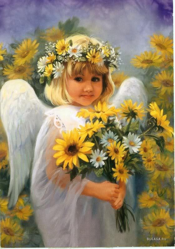 Цветы и ангелы картинки 1