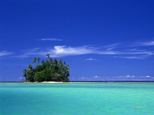 фото обои острова Бора-Бора, французская Полинезия...