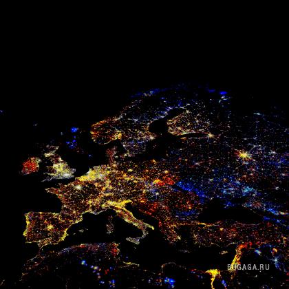 Взгляд из космоса. Проект Nighttime Lights of the World.