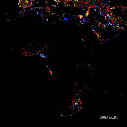 ������ �� �������. ������ Nighttime Lights of the World.