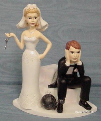 Смешные фигурки на свадебный торт!