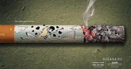 ТОП 45 креативных реклам против курения!