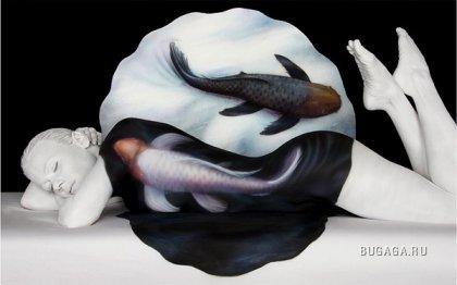 Потрясающий боди-арт-художника Craig Tracy