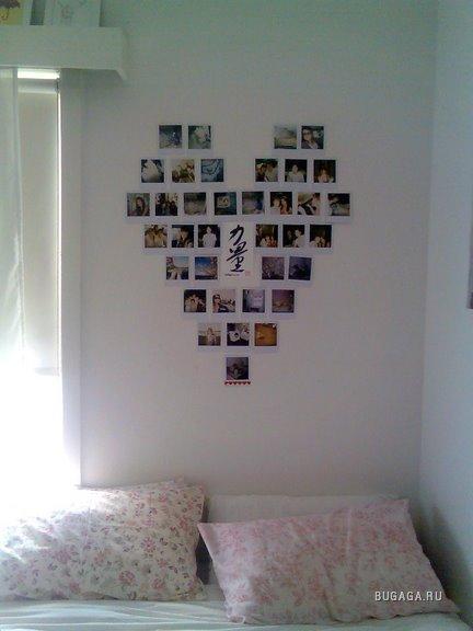 Чем украсить стенку в комнате своими руками