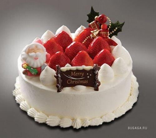 Фото красивых новогодних тортов