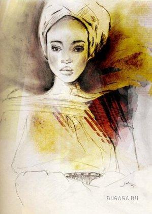 Рисуя женщину. Jacklyn Laryea.