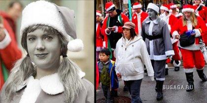 Чёрно-белый Санта Клаус