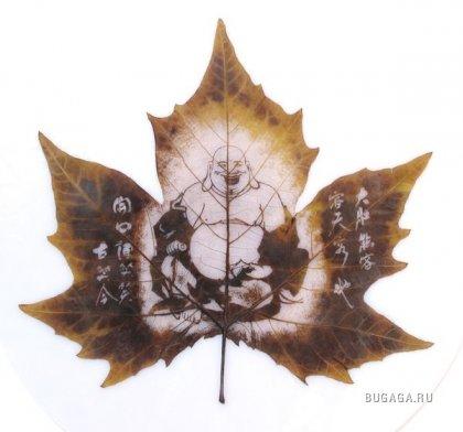 Резьба по листьям