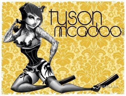Рисованные девушки от Tyson McAdoo