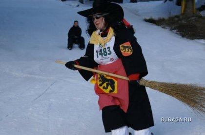 Ведьмы на лыжах в Швейцарии