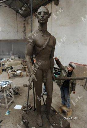 Скульптуры людей Нави