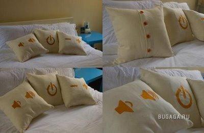 Необычные подушки.
