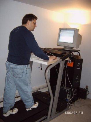 Как работая, сбросить вес