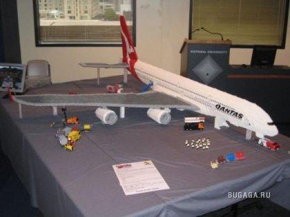 Airbus 380 из кубиков Lego