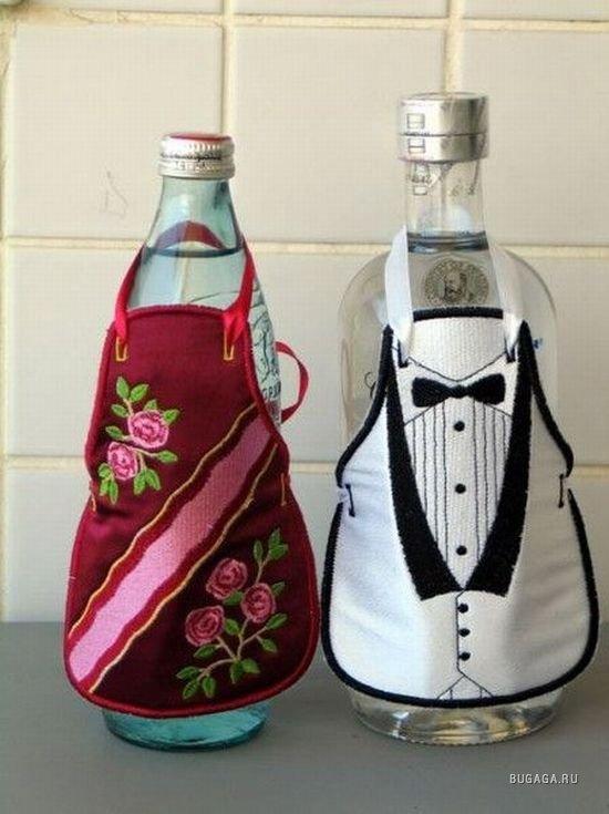 Украшаем бутылку водки своими руками