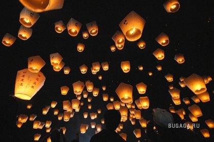 Тайвань зажигает в день весенних фонариков