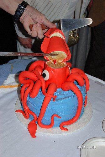 Фото торт в виде осьминога
