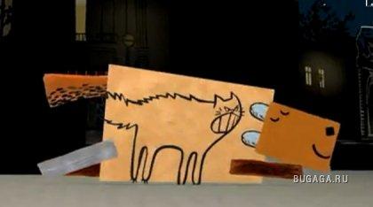Добрый мультик про собаку и кошку
