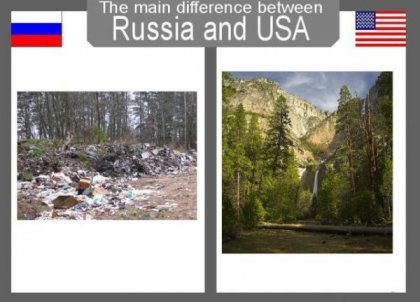 Основные различия между Россией и США