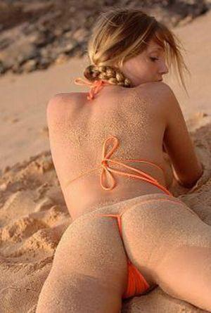фото сексуальные попки на пляже