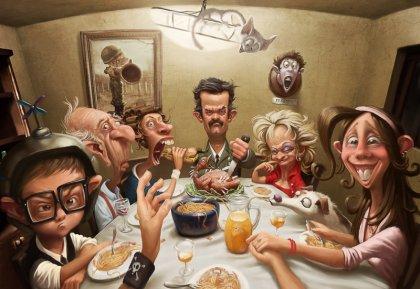 Забавные работы иллюстратора Tiago Hoisel