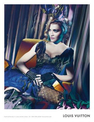 Louis Vuitton: Мадона до и после фотошопа