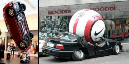 Креативное применение авто в рекламе