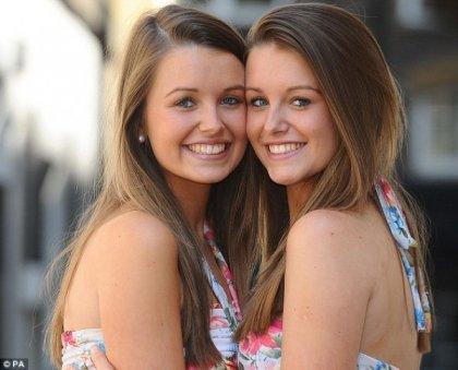 Самая похожая пара близнецов в Англии