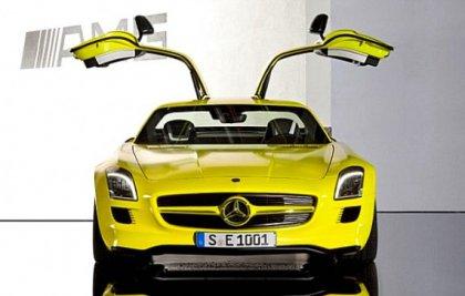 Новый электро-суперкар Mercedes-Benz SLS AMG