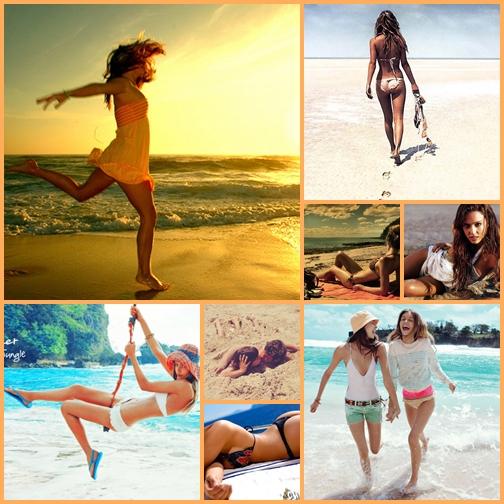 Реальные частные фото девушек на пляже 21 фотография