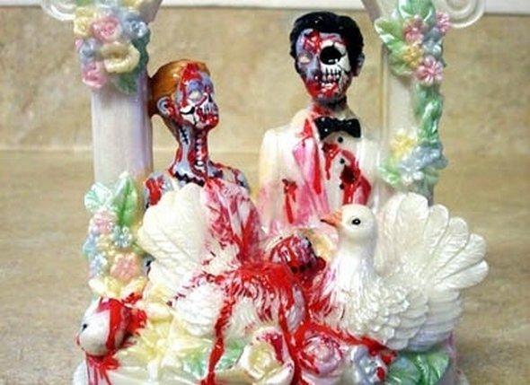 Самые смешные украшения свадебного торта фото