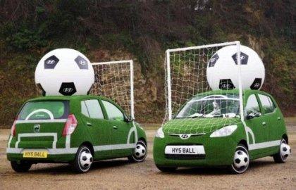 Футбольный автомобиль Hyundai i10